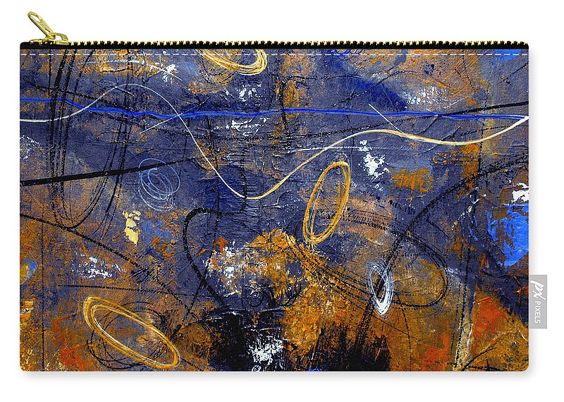 Abstract Carry-all Pouch featuring the painting Dance The Night Away by Ruth Palmer