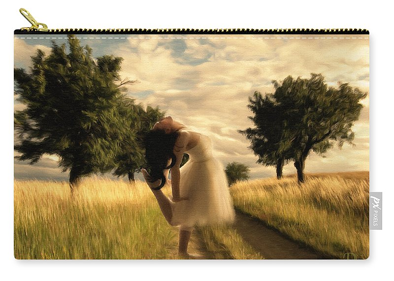Impressionism Carry-all Pouch featuring the painting Dance Until Dawn by Georgiana Romanovna