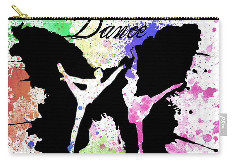 Dance Carry-all Pouch featuring the digital art Dance by Vaso Barbalia