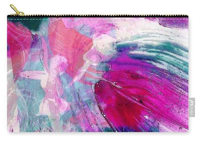 Dance With Joy Carry-all Pouch featuring the digital art Dance With Joy by Susan Harris