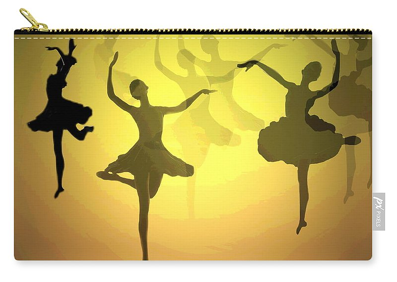 Ballerina Carry-all Pouch featuring the photograph Dance With Us Into The Light by Joyce Dickens
