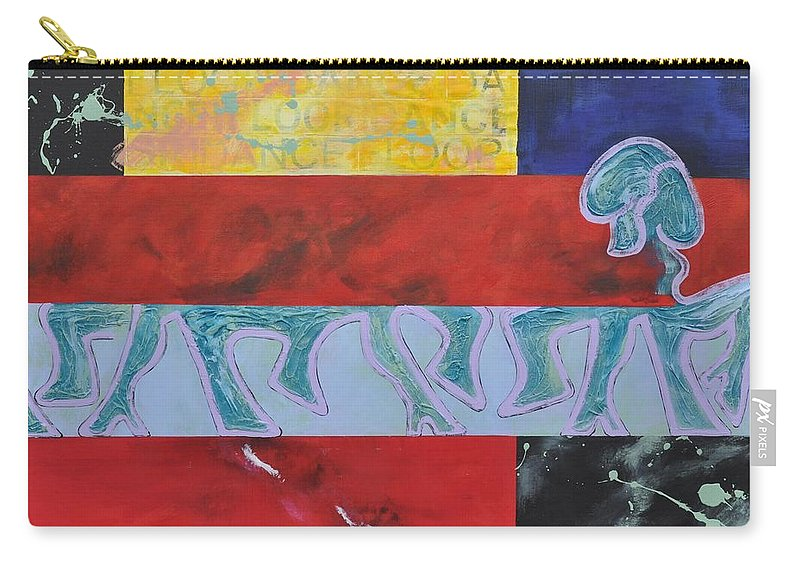 Dancing Carry-all Pouch featuring the painting Dancefloor by Eduard Meinema