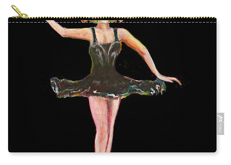 Dance Carry-all Pouch featuring the painting Dancer in the Black Tutu by Tom Conway