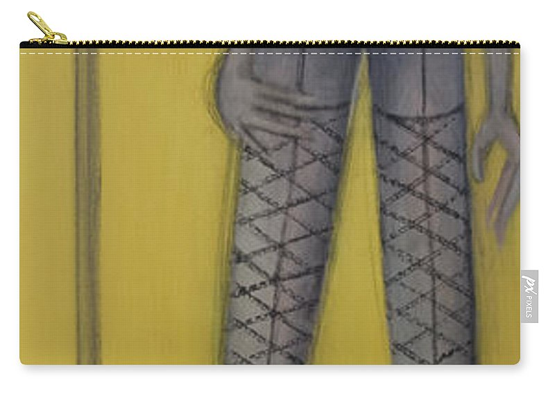 Dancer Carry-all Pouch featuring the painting Dancer by Kelly Jade King