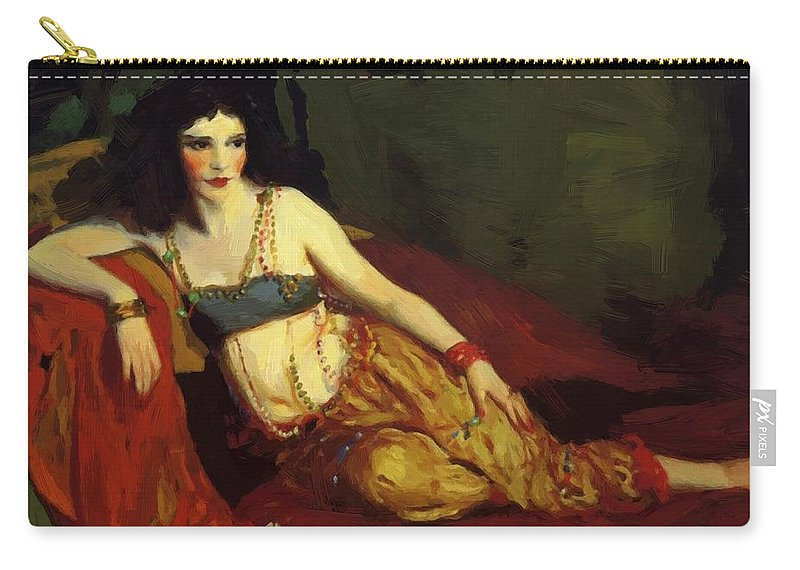 Dancer Carry-all Pouch featuring the painting Dancer Of Delhi Betalo Rubino 1916 by Henri Robert