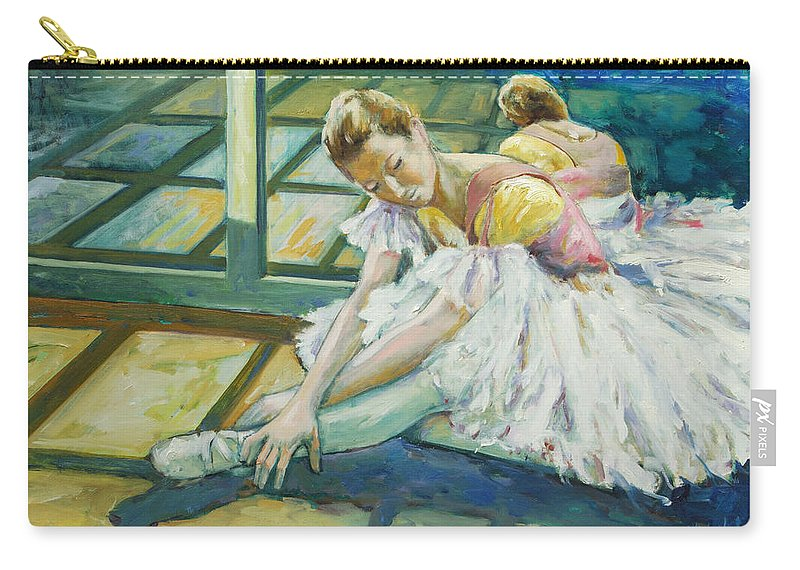 Glass Carry-all Pouch featuring the painting Dancer by Rick Nederlof