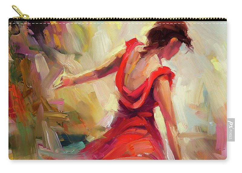 Dancer Carry-all Pouch featuring the painting Dancer by Steve Henderson