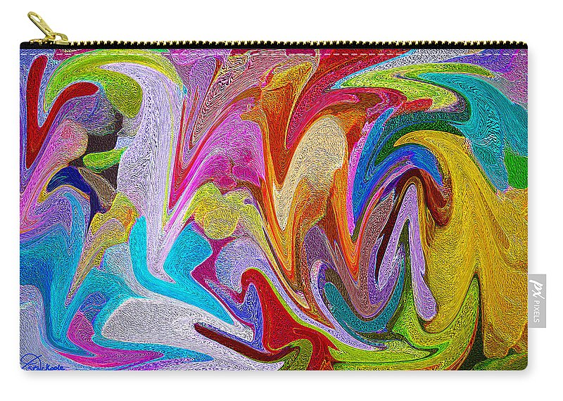 Colorful Carry-all Pouch featuring the photograph Dancing Colors by Jennifer Stackpole