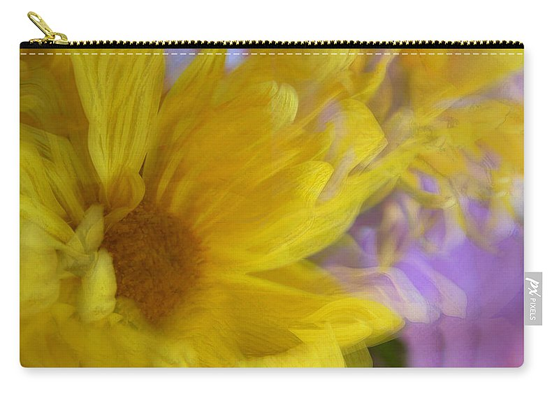 Flowers Carry-all Pouch featuring the photograph Dancing Daisy by Linda Sannuti