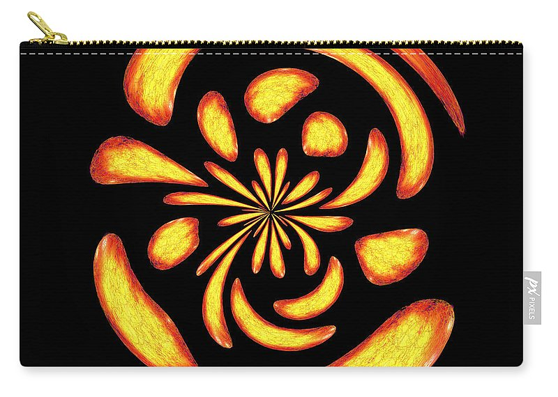 Mystical Carry-all Pouch featuring the digital art Dancing Fire Balls by Gaspar Avila