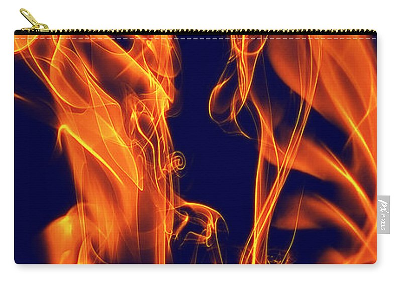 Clay Carry-all Pouch featuring the digital art Dancing Fire I by Clayton Bruster