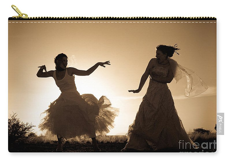 Dancing Girls Carry-all Pouch featuring the photograph Dancing Girls by Scott Sawyer