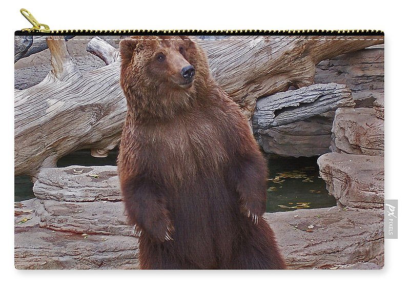 Animals Carry-all Pouch featuring the photograph Dancing Grizzly by Ernie Echols