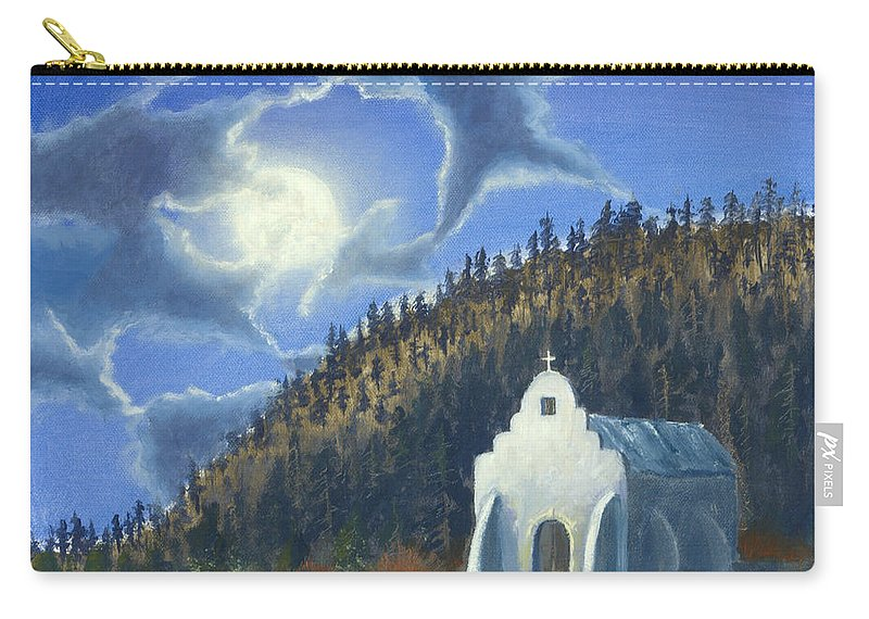 Landscape Carry-all Pouch featuring the painting Dancing In The Moonlight by Jerry McElroy