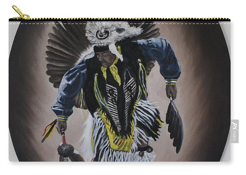 Michael Carry-all Pouch featuring the painting Dancing In The Spirit by Michael TMAD Finney