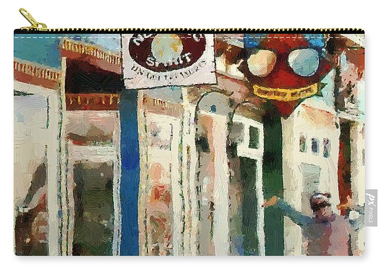 Colorado Carry-all Pouch featuring the painting Dancing In The Street by RC DeWinter