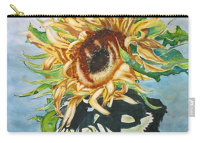 Sunflower Carry-all Pouch featuring the painting Dancing In The Sun by Mohamed Hirji