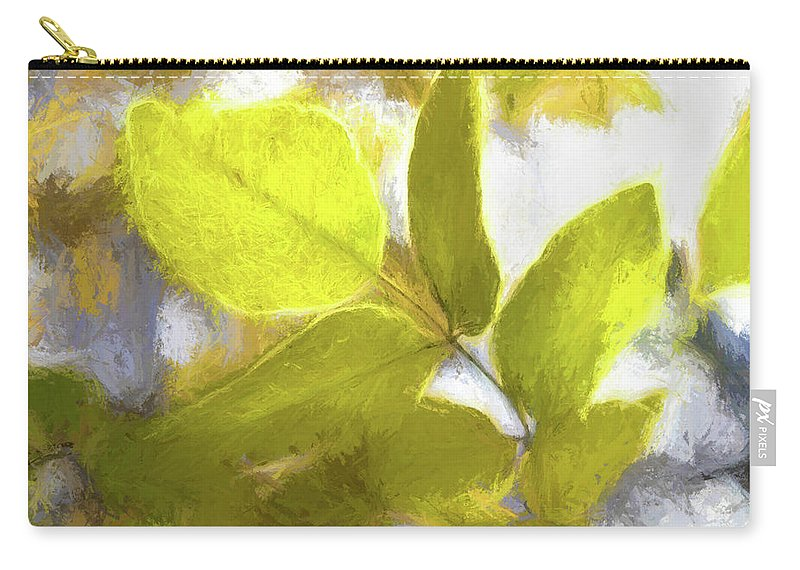 Leaves Carry-all Pouch featuring the photograph Dancing Light by Elliot Stombaugh