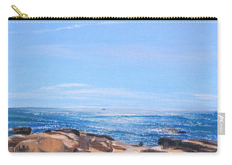 Seascape Carry-all Pouch featuring the painting Dancing Light by Lea Novak