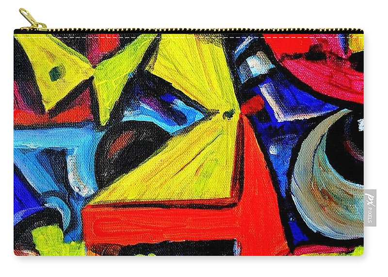 Abstract Carry-all Pouch featuring the painting Dancing Naive #2 by Mbonu Emerem
