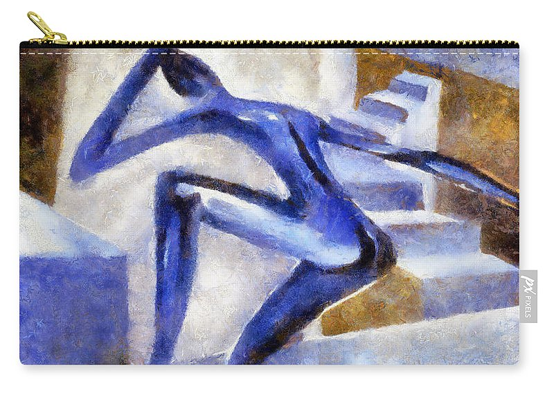 Conceptual Carry-all Pouch featuring the painting Dancing Off The Edge Of The World by Michelle Calkins