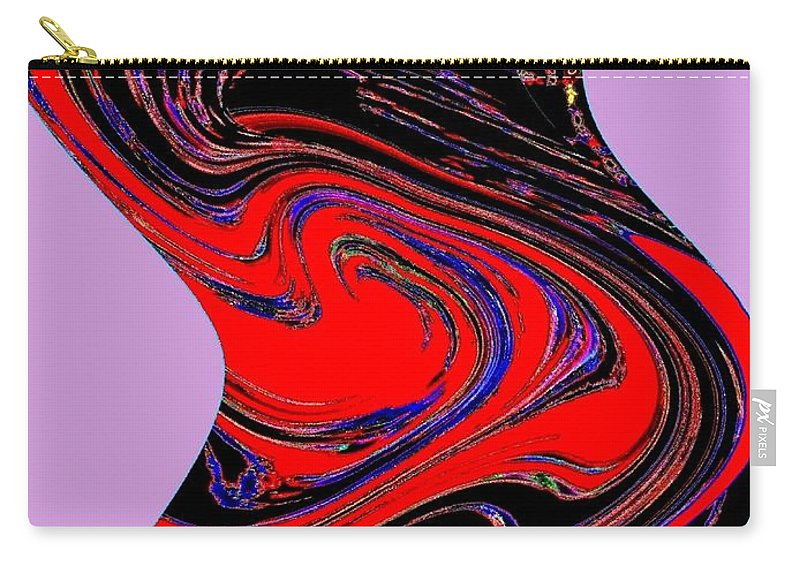 Abstract Carry-all Pouch featuring the digital art Dancing Queen Roline by Will Borden