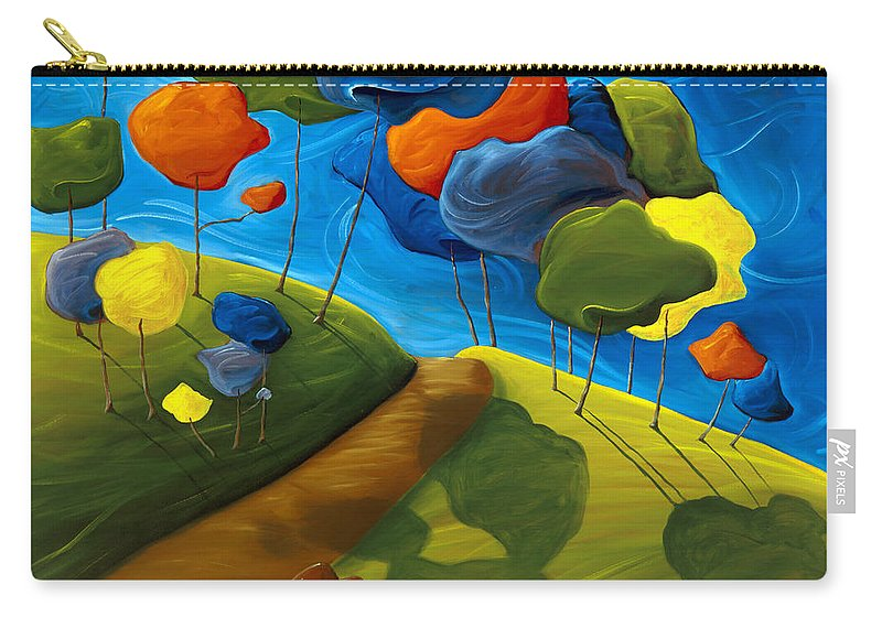 Landscape Carry-all Pouch featuring the painting Dancing Shadows by Richard Hoedl