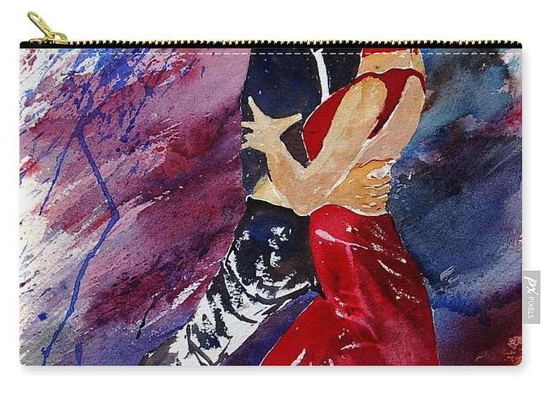 Tango Carry-all Pouch featuring the painting Dancing Tango by Pol Ledent