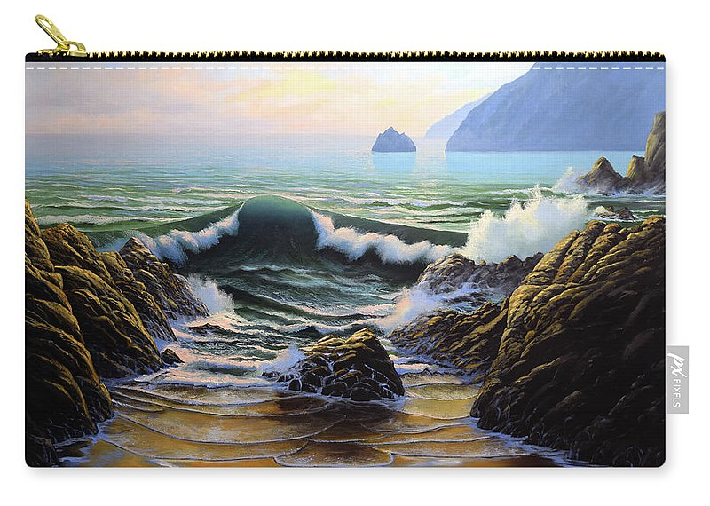 Dancing Tide Carry-all Pouch featuring the painting Dancing Tide by Frank Wilson