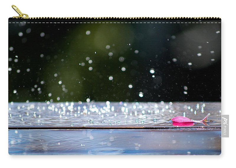 Water Carry-all Pouch featuring the photograph Dancing Water by Lisa Knechtel