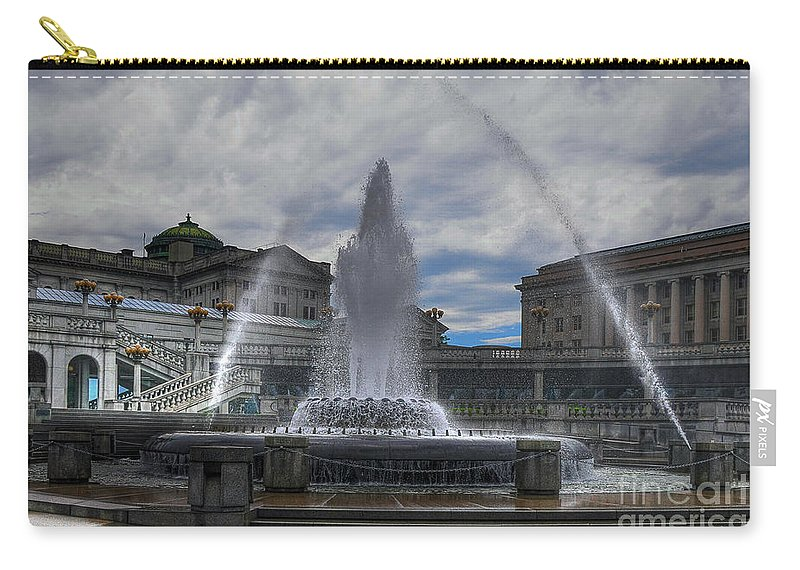 Architecture Carry-all Pouch featuring the photograph Dancing Waters by Lois Bryan