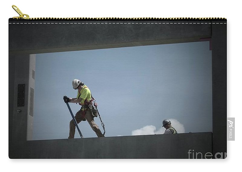 Construction Carry-all Pouch featuring the photograph Dancing With Concrete by Jor Cop Images