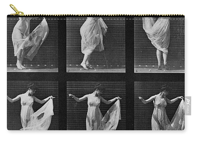 Muybridge Carry-all Pouch featuring the photograph Dancing Woman by Eadweard Muybridge