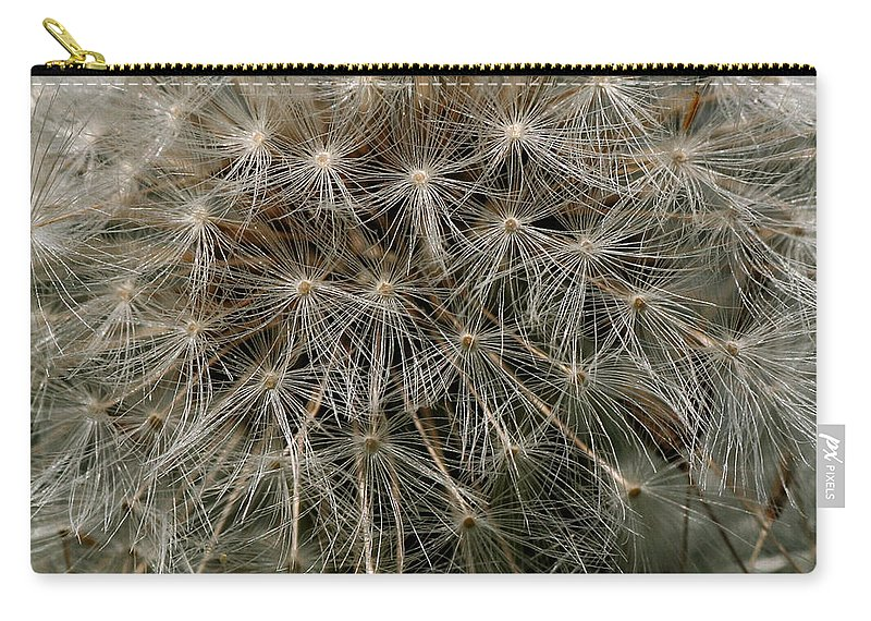 Flower Carry-all Pouch featuring the photograph Dandelion Head by William Selander