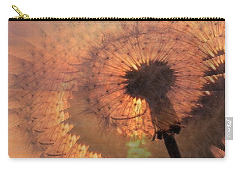 Dandilion Carry-all Pouch featuring the digital art Dandelion Illusion by Tim Allen