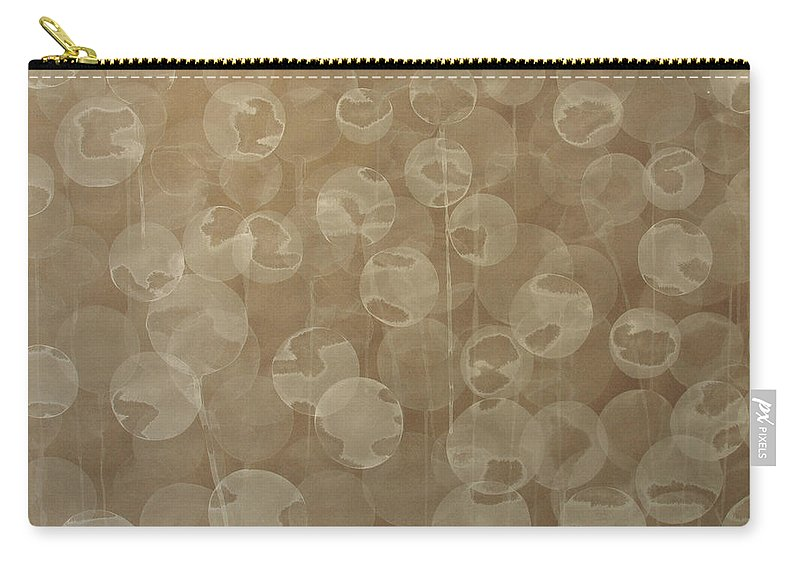Abstract Carry-all Pouch featuring the painting Dandelion by Jitka Anlaufova