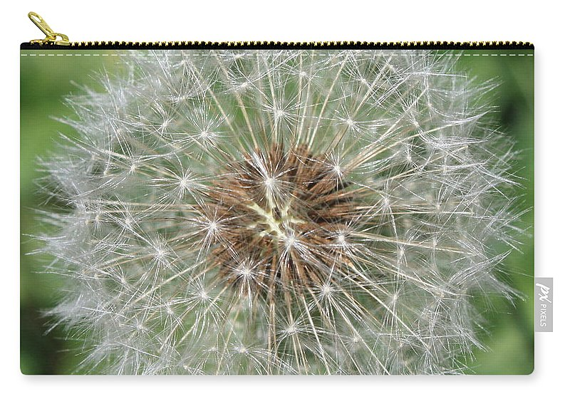 Dandelion Carry-all Pouch featuring the photograph Dandelion Macro by Carol Groenen