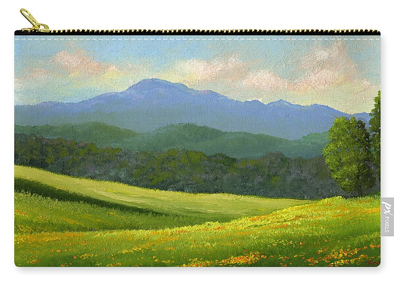 Landscape Carry-all Pouch featuring the painting Dandelion Meadows by Frank Wilson