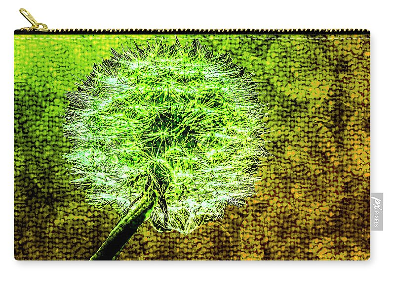 Dandelion Carry-all Pouch featuring the photograph Dandelion Seed Head by Nigel Dudson