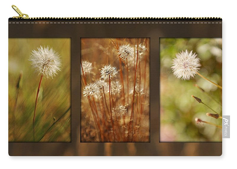 Dandelions Carry-all Pouch featuring the photograph Dandelion Series by Jill Reger