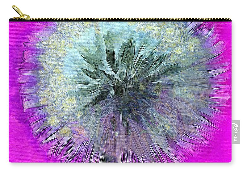 Dandelion Carry-all Pouch featuring the photograph Dandelion Spirit by Krissy Katsimbras