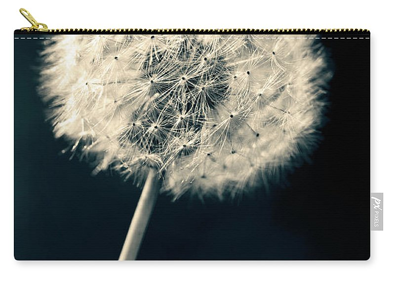Closeup Carry-all Pouch featuring the photograph Dandelion by U Schade