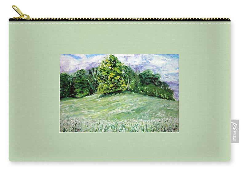 Landscape Carry-all Pouch featuring the painting Dandelions by Pablo de Choros