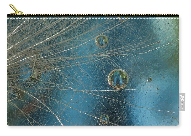 Design Carry-all Pouch featuring the photograph Dandy Drops by Jean Noren