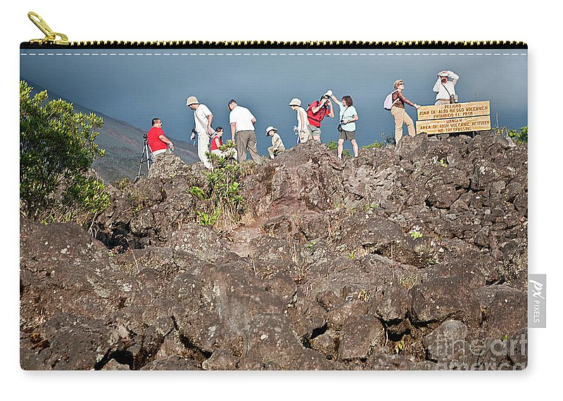 Volcano Carry-all Pouch featuring the photograph Danger No Trespassing by Madeline Ellis