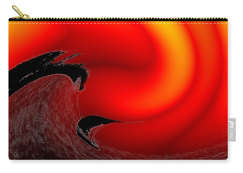 Danger Carry-all Pouch featuring the photograph Dangerous Waters Off Alki by Tim Allen