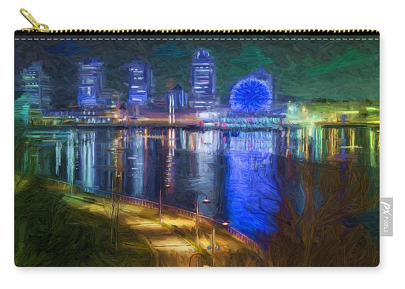 Vancouver Carry-all Pouch featuring the digital art Dani's Vancouver by Caito Junqueira