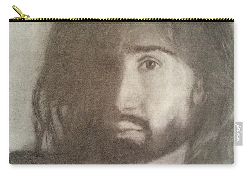 Danny Carry-all Pouch featuring the drawing Danny by Amelie Simmons