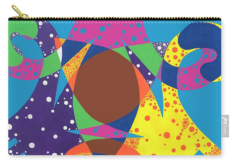 Abstract Carry-all Pouch featuring the painting Dannys Dream by Louise Hankes