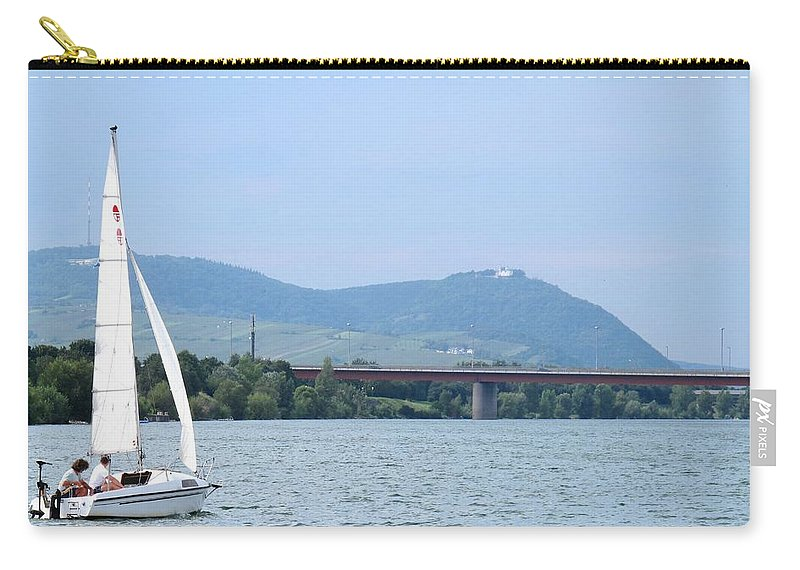 Sail Carry-all Pouch featuring the photograph Danube River Sailor by Ian MacDonald